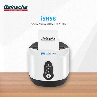 Gainscha Ish58 Thermal Receipt Printer 58mm Wifi Bluetooth Usb Android Ios Us