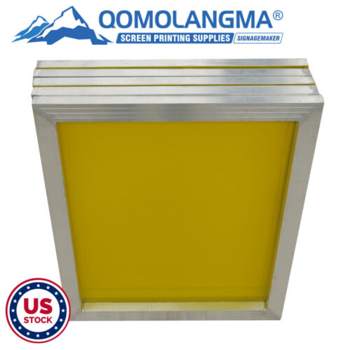 """US Stock 6Pack 20"""" x 24"""" Aluminum Screen Printing Frame with 305 Yellow Mesh"""