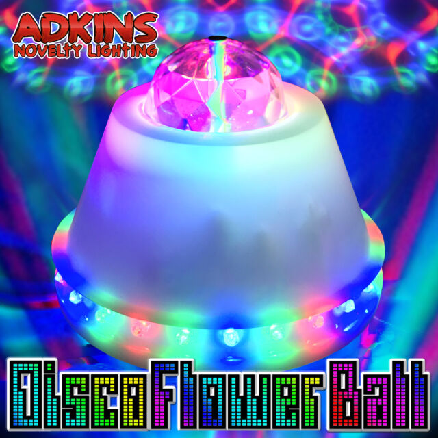 LED Disco Flower Ball Party Light Lights RGB Rotating Lamp Parties - Bedroom disco lights