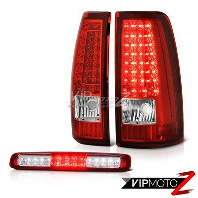 "03-06 Chevy Silverado Rosso Red 3RD Brake Lamp Taillamps LED SMD ""Ultra Bright"" for sale  Shipping to Canada"