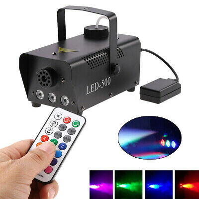 500W Smoke Effect Fog Machine LED Remote Control DJ Party Stage Fogger Smoker US