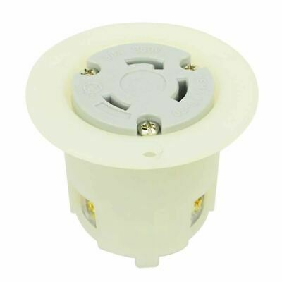 Female Twist Lock Flange Receptacle 30 Amps 250v Nema L6-30r Flush Mount