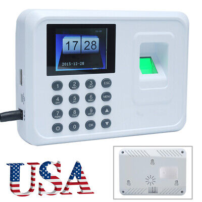 Intelligent Fingerprint Password Attendance Employee Checking-in Recorder W1m8