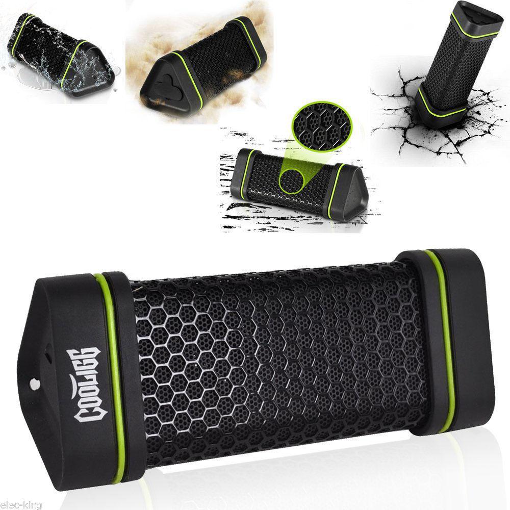 Cooligg Outdoor Waterproof Shockproof Wireless Bluetooth Speaker for iPhone USA