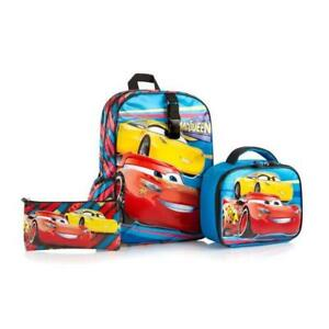 Heys Disney Backpack with Lunch Bag and Pencil Case Kids School Bag Set - Cars 15 Inch