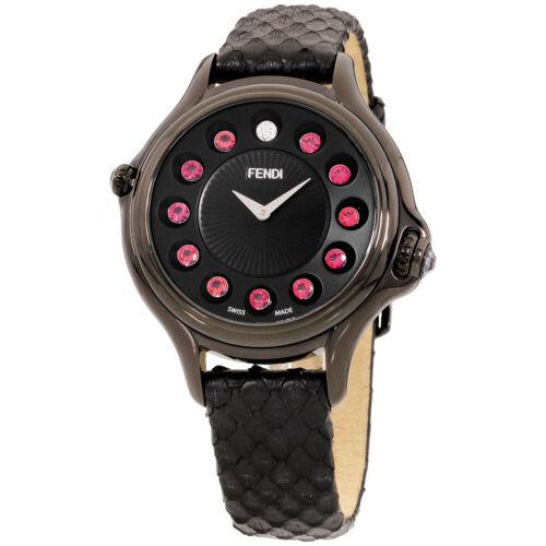 Fendi Crazy Carats Quartz Movement Black Dial Ladies Watch F110031011T05