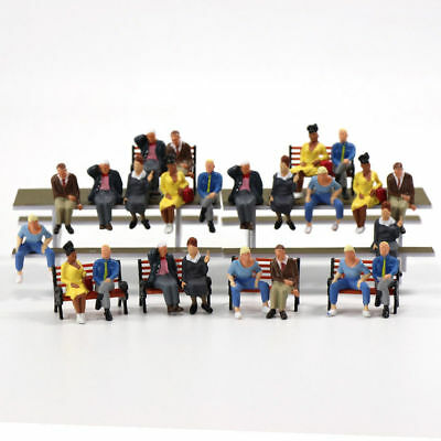 P4803 24 Pcs All Seated Figures O Scale 1 43 Painted People Model Railway New