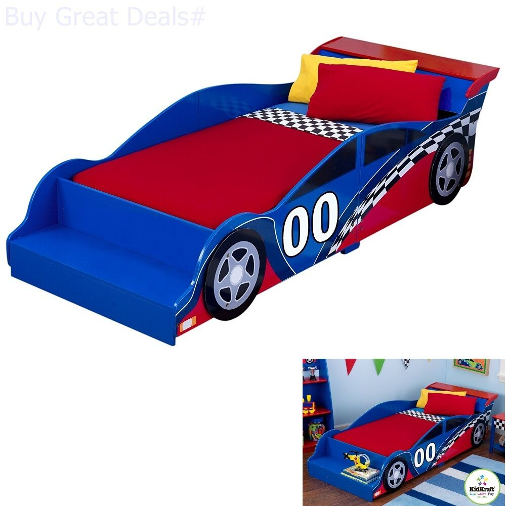 Details About Toddler Bed Race Car Kids Cars Bedroom Boys Furniture Fun Racecar New