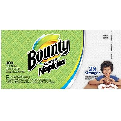 Bounty Quilted Paper Napkins 200 ea
