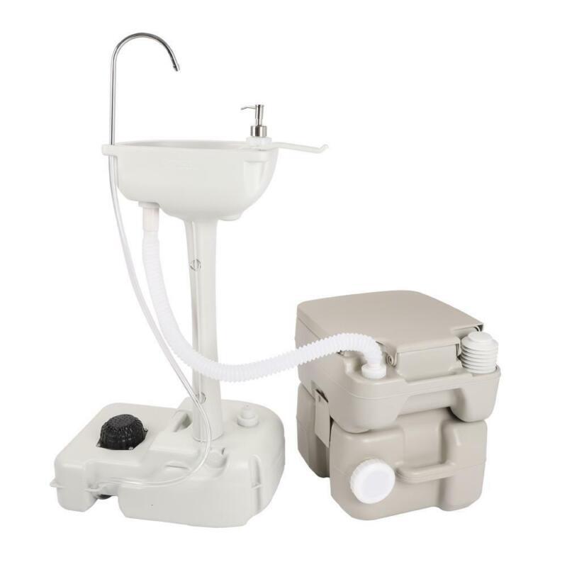Camping Indoor Home Use Hygiene Wash Set 20L Toilet Wash Sink Basin RV Faucet