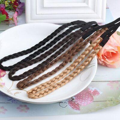 Stirnband geflochten Breite 0,8 cm 4 Farben Zopf Haarband Zopfgummi stylisch