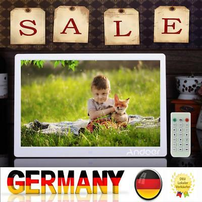 "15,6 ""Zoll HD LCD Digital Bilderrahmen Bild MP4 Film MP3 Player Fernbedienung"