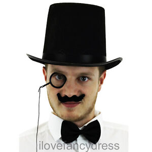 TOP-HAT-MONOCLE-MOUSTACHE-FANCY-DRESS-1920S-STYLE-RICH-TOFF-COSTUME-ACCESSORIES