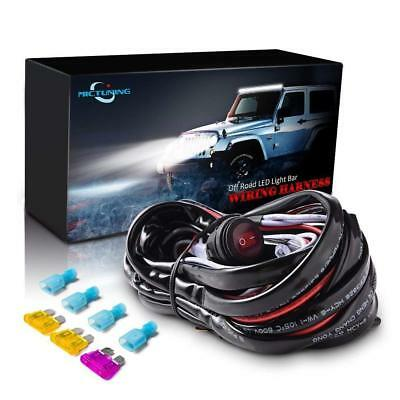 MICTUNING Wiring Harness LED Light Bar  40Amp Relay Fuse ON-Off Switch 2 Lead