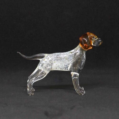 Middle blown glass figurine Dog - Pointer  Russian Murano Handmade #165