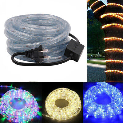 1-100M 110V LED Fairy String Tube Light Strip Rope Lighting Xmas Outdoor+US Plug - Hanukkah String Lights