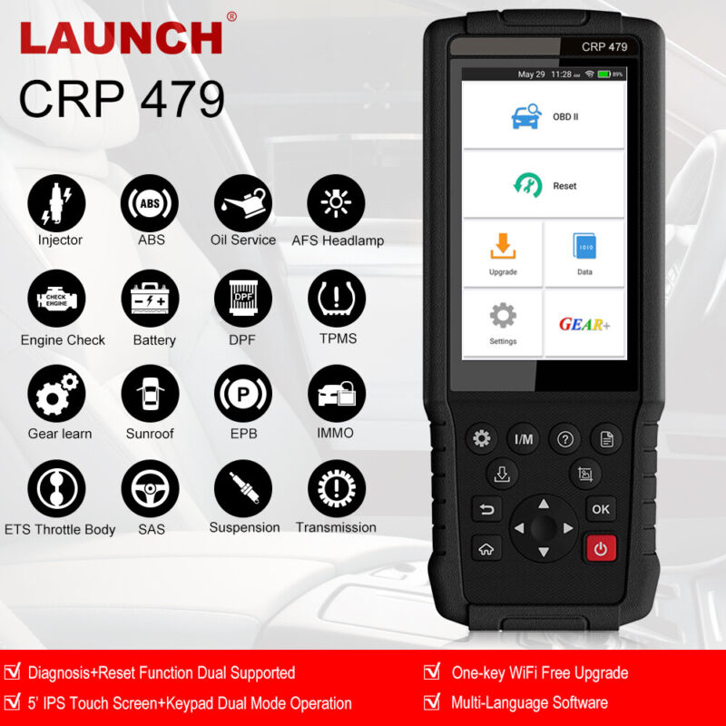 LAUNCH CRP479 OBD2 Automotive Diagnostic Scanner Engine ABS TPMS DPF IMMO Reset