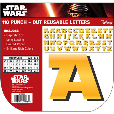EU 845060 Star Wars Bulletin Board Punch Out Letters Classroom Decorations