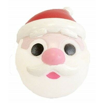 Pet Brands Vinyl Festive Santa Ball