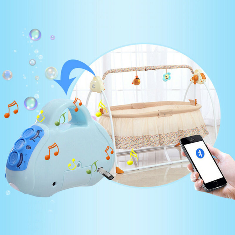 Bluetooth Electric Rocker Baby Swing Infant Cradle Bouncer Seat Chair Soft Music