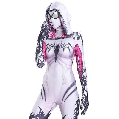 Spider Gwen Stacy Venom Cosplay Costume 3D Print Spider Zentai For Adult & Kids](Venom Costume For Child)