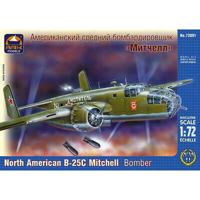 North American B-25 Mitchell WWII Medium Bomber Model Kits scale 1:72