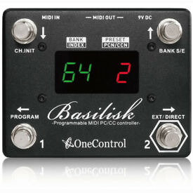 *REDUCED* One Control Basilisk MIDI Controller Programmable Foot Switch Pedal w/ Presets