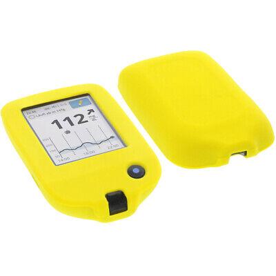 Tasche f. Abbott Freestyle Libre 2 Handytasche Schutz Hülle Silikon Silicon Gelb