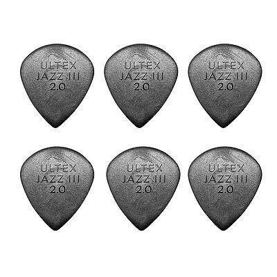Jim Dunlop 427P Ultex Jazz Iii Black Guitar Picks  6 Pack   Picks