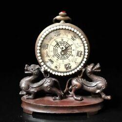 European Exquisite Brass hand-made beast Classical Mechanical Clock