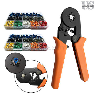 Crimp Tool Kit Ferrule Crimper Plier Wire Stripper 1600 Connector Wire Terminal