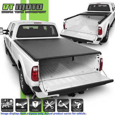 """Soft Roll Up Tonneau Cover For 1999-2018 Ford F250 SuperDuty 6.5FT (78"""") Bed"""