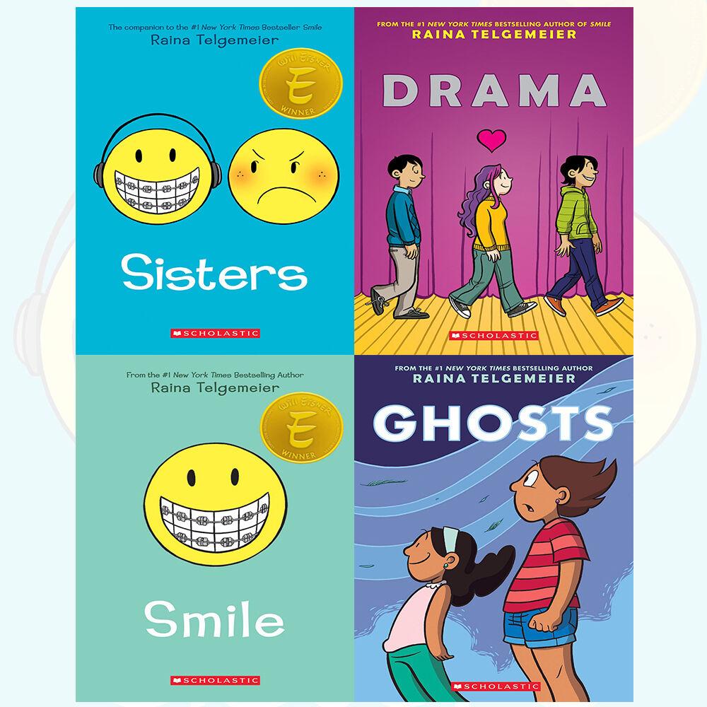Raina Telgemeier Collection Sisters 4 Books Set Drama