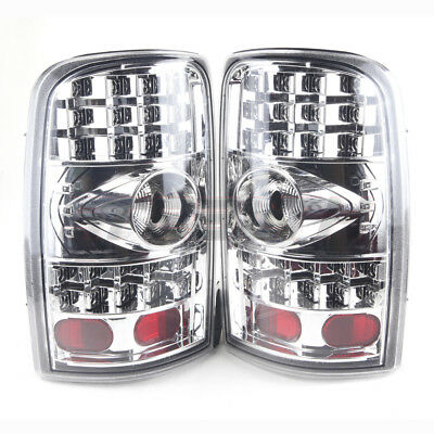 Stealth 2000-2006 Chevrolet Suburban Tahoe GMC Yukon LED Tail Lights - Chrome/Cl
