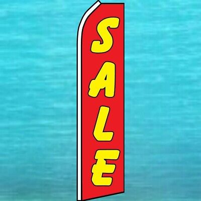 Sale Flutter Flag Tall Curved Top Advertising Feather Swooper Wind Banner Sign
