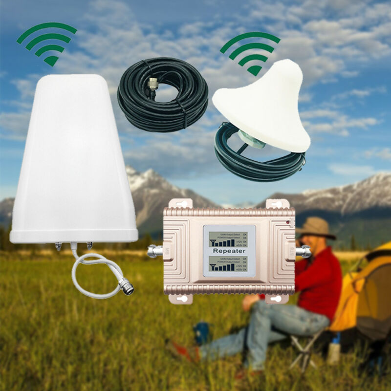 Dual Band Cell Phone Signal Booster Amplifier 850/1900MHz High Gain 2G/3G/4G LTE