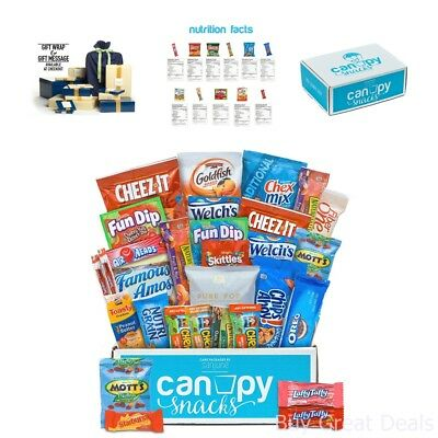 Assorted Snacks Package College Gift Basket Delicious Variety Packs High - Halloween Gift Basket College