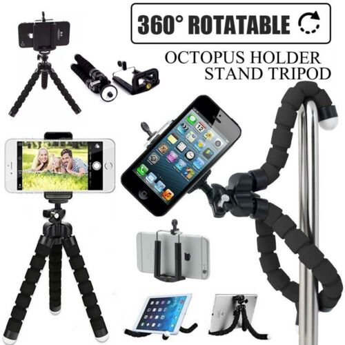 Cell Phone Camera Mini Tripod Flexible Octopus Holder Stand