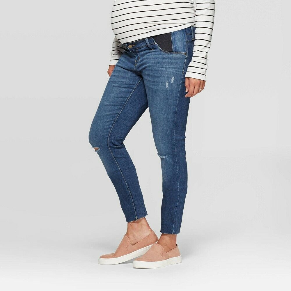 Maternity Side Panel Skinny Jeans – Isabel Maternity by Ingrid & Isabel 12 Clothing, Shoes & Accessories