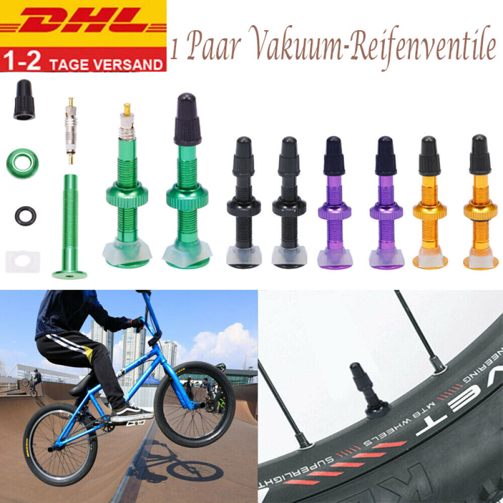 Mountainbike Vakuum Reifen Ventil MTB Rennrad Tubeless Valve Französisch