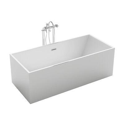 "1001NOW Stunning Burano 70"" Freestanding White Acrylic Seamless Bathtub"