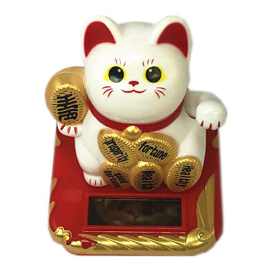 Solar Powered Waving Paw Welcome Fortune Cat Lucky Maneki Neko to Home Car Decor](Guy Waving)