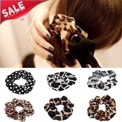 Samt-scrunchie (Mode Leopard Samt Scrunchie elastische Frauen Haarschmuck Mädchen Haarbänder)