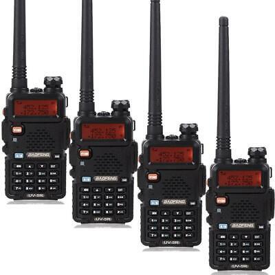 4 Pcs Baofeng UV-5R VHF/UHF 136-174&400-520Mhz DTMF CTCSS Radio Walkie Talkie