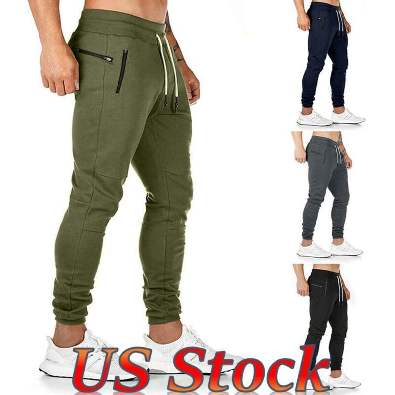 ❤men Slim Joggers Tracksuit Track Pants Skinny Jogging Sweat Pants Gym Trousers❤