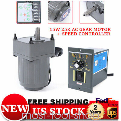 15w 25k Ac Gear Motor Electricvariable Speed Reduction Controller 125 Us Stock