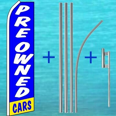 Pre Owned Cars Flutter Flag Pole Mount Kit Tall Feather Swooper Banner Sign