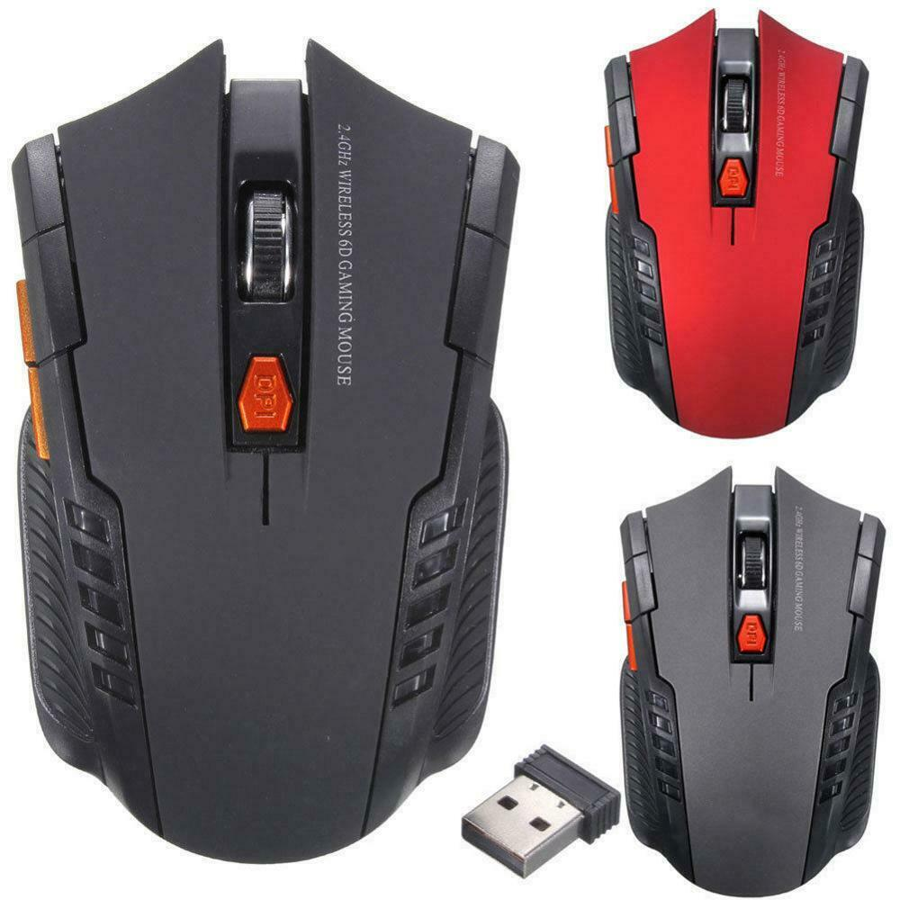 Wireless Pro Gaming Mouse - LED Silent Optical Gaming Computer Mouse