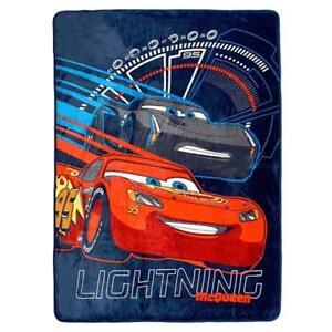 Disney Cars Micro Plush Soft Throw Kids Blanket for Boys - 60 x 80 Inch [Lightning McQueen]