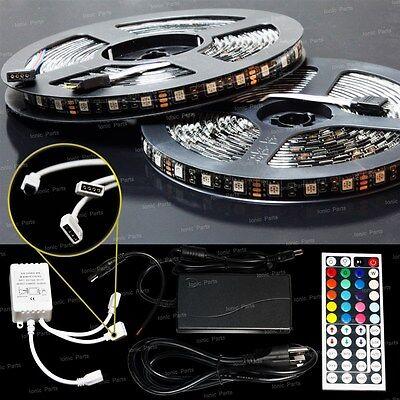 10M 5050SMD RGB LED Color Change Strip Light Kit 44 Key Remote 2 Outlet 5A Power
